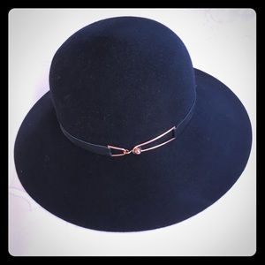 Eugenia Kim Wool Felt Rose Gold Wide Brim Hat